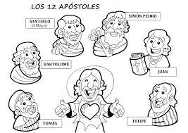 Imagen De Jesús Y Los Doce Apóstoles Para Colorear RECURSOS PARA