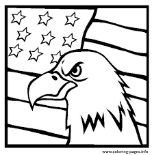American Eagle And Us Flag Coloring Pages