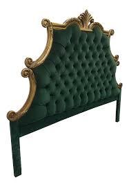 Velvet Super King Headboard by Vintage U0026 Used Hollywood Regency Headboards Chairish