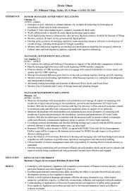 Download Manager Government Relations Resume Sample As Image File