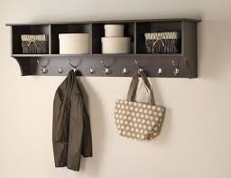 Coat Racks Wall Mounted Rack With Cubbies Decorative Simple Nice