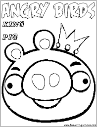 Angrybirds Kingpig Coloring Page