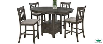 Empire Grey 5-Piece Dinette Set London | Surplus Furniture ...