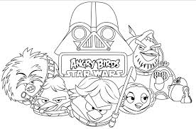 Angry Birds Star Wars Coloring Pages Printable 6
