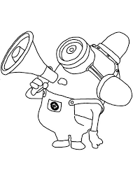 Free Coloring Pages Of Two Eyed Minion