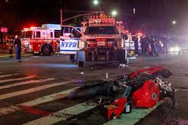 100 Emergency Truck Motorcyclist Killed Passenger Hurt After Colliding With NYPD Truck