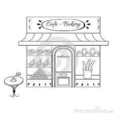 Bakery clipart black and white