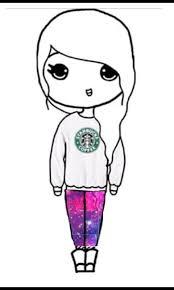 Starbucks Galaxy Chibi