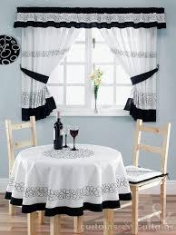 black and white kitchen curtains Black White Kitchen Curtains