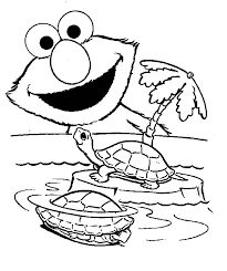 Free To Download Elmo Coloring Page 95 For Kids With
