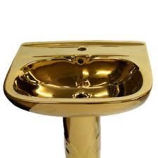 goldenes waschbecken luxus gold becken bad waschtisch luxus
