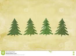 Scrapbooking Christmas Trees Stock Photo