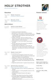 Resume Format For Social Worker Free With