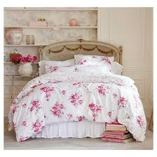 Simply Shabby Chic Curtains Pink Faux Silk by Pink Sunbleached Floral Duvet Cover Set Simply Shabby Chic Target