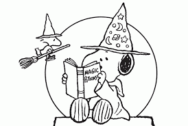 Holidays Nifty Snoopy Halloween Coloring Pages Sheets