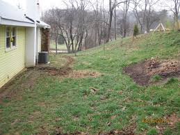 Dealing With Negative Slope Towards House (homestead Forum At Permies) How To Prevent Basement Water Intrusion 25 Beautiful Landscape Stairs Ideas On Pinterest Garden Inground Pools Sloped Yard 5 Ways Build Pool Hillside Landscaping Small Hillside Landscaping Ideas On Budget Diy 32x16 Ish Pool Steep Slope Solving Problems Reflections From Wandsnider Trending Backyard Sloping Back Backyard Slope Land Grading Much You Need Near A House Best Front Yard