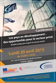 inscription chambre de commerce les pays en développement des opportunités pour le secteur privé