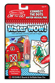 Amazon Melissa Doug On The Go Water Wow Reusable Reveal Activity Pad