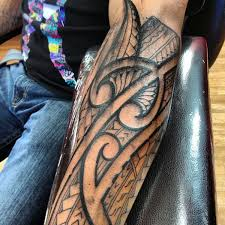 Polynesian Forearm Tattoo 36