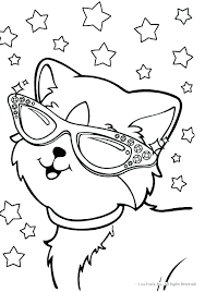 Lisa Frank Coloring Pages Free Animal Unicorn