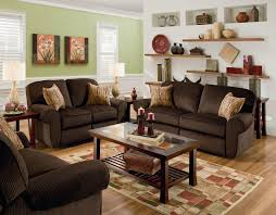 Dark Brown Sofa Living Room Ideas by Dark Brown Velvet Loveseat Combined With Brown Wooden Legs Coffee