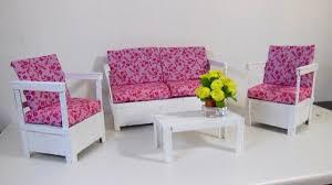 Barbie Living Room Furniture Diy by Sofá Rústico Com Palitos Para Barbie Diy Youtube