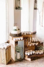 Rustic Wedding Cake Cupcake Display