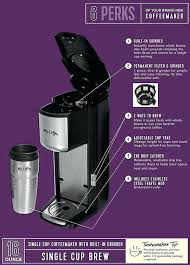 Purple Coffee Maker Grind And Brew Features