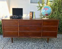 Johnson Carper 6 Drawer Dresser by Mid Century Dresser Etsy