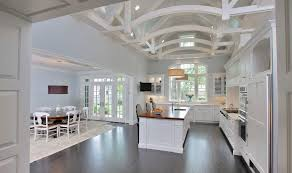 truss ceiling kitchen traditional with drum shade pendant lights