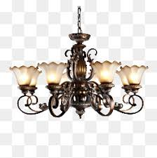 Retro Chandelier Lighting Home Accessories Continental Ceiling PNG Image And Clipart
