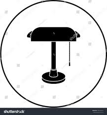 Bankers Lamp Shade Only by Bankers Lamp Symbol Stock Vector 186741212 Shutterstock