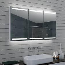 details zu aluminium led beleuchtung kalt war weiß lich wand badezimmer spiegel schrank 120