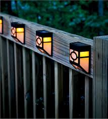 Mission Style Solar Deck Accent Lights Set of 4