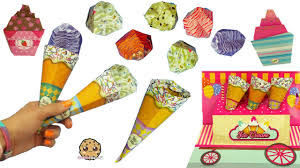 Ice Cream Cupcakes Easy Super Simple Paper Craft Origami From Dollar Tree Store