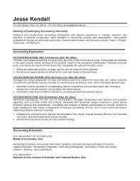 Accounting Major Resume Internship Sample 2 Graduate No Experience Pdf