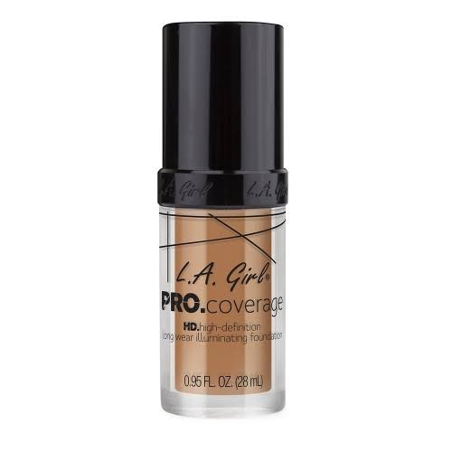 L.A. Girl Pro Coverage Liquid Foundation - Beige, 0.95oz