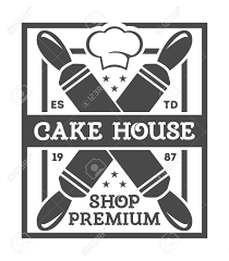 Bakery shop vintage isolated label vector Bread and cake house symbols Sweet bakery icon