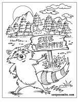 Printable Coloring Page For The Kids Of A Yosemite Raccoon