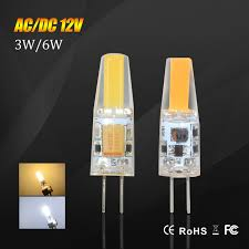 dimmable g4 led l 12v ac dc cob bulb light 3w 6w high