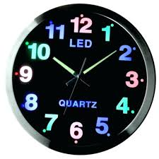 lighted digital wall clock clocks light up words lighthouse in the
