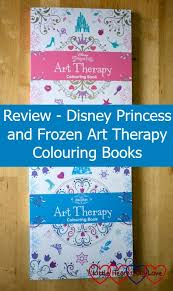 Disney Princess And Frozen Art Therapy Colouring Books