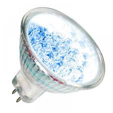 12v ac dc blue 21 led mr16 led spotlight bulb