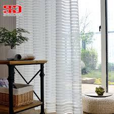 moderne gestreiften tüll vorhänge für wohnzimmer weiß voile kurz sheer vorhänge für schlafzimmer fenster behandlung einzigen panel küche