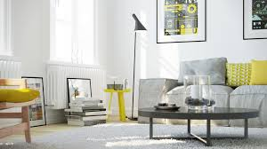 Gray And Yellow Living Room 353