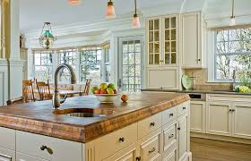 Composite Countertops Kitchen Traditional With Butcher Block Chandelier Country Crown