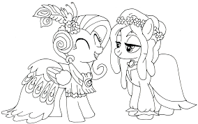 Download Coloring Pages Fluttershy Printable My Little Pony Page