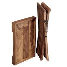 finebuy beistelltisch massivholz design klapptisch serviertablett und tisch gestell klappbar landhaus stil couchtisch echt holz natur produkt