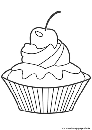 Cupcake Coloring Pages 73