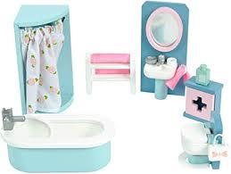 le daisylane badezimmer aus holz zubehörset für puppenhäuser puppenhaus möbelsets geeignet für kinder ab 3 jahren me060